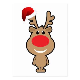 Vacances de Noël drôle père Noël Carte Postale