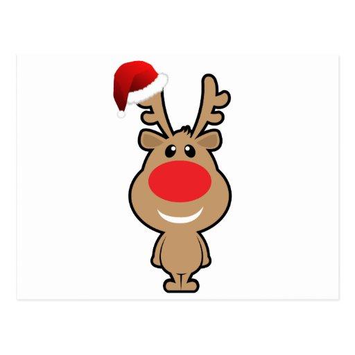Vacances de Noël drôle père Noël Cartes Postales