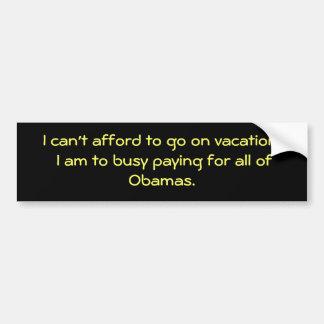 Vacances d'Obama Autocollant De Voiture