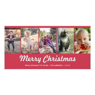 Vacances multi personnalisées de photo de Joyeux Photocartes Personnalisées