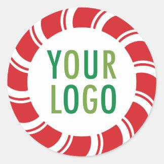 Vacances promotionnelles de logo d'autocollants sticker rond