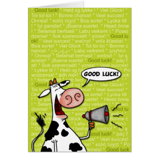 vache à bonne chance carte de vœux
