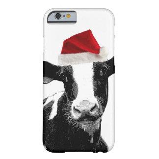 Vache drôle à Père Noël de Noël Coque iPhone 6 Barely There