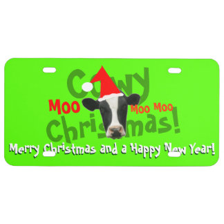 Vache drôle à Père Noël de Noël de Cowy