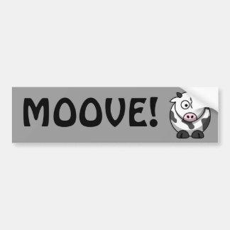 Vache mignonne autocollant de voiture