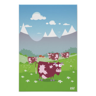 Vaches drôles poster