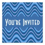 vagues bleues invitations personnalisées