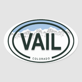 Vail Colorado felsiger Gebirgsumbau Ovaler Aufkleber