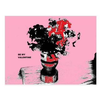 Valentine-Blumen Boquet sind mein Valentine Postkarte