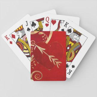 Valentine-Eleganz STREIFEN-POKER-LIEBHABER Spielkarten