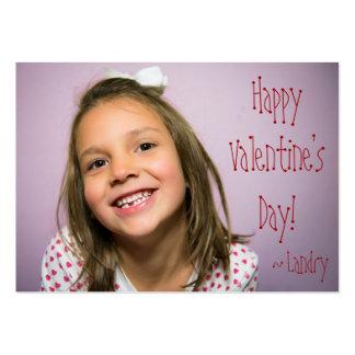 Valentine fait sur commande pour des enfants avec carte de visite grand format