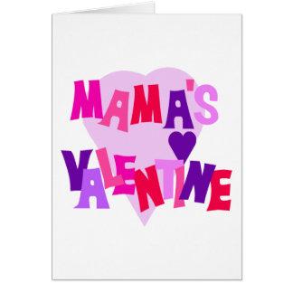 Valentine heißer Farbherz-Mutter Karte