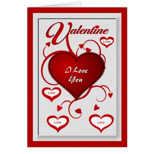 Valentine - i-Liebe Sie Grußkarte