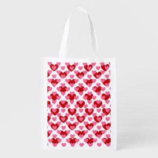 Valentine-Liebe-Herz Wiederverwendbare Einkaufstasche