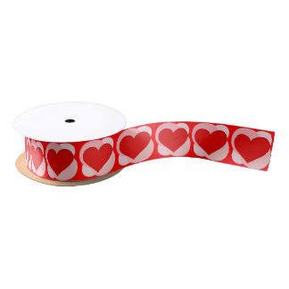 Valentine-romantischer roter satinband
