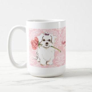 Valentine-Rose maltesisch Kaffeetasse