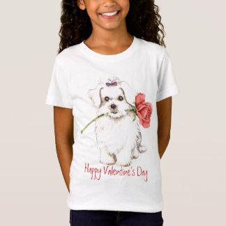 Valentine-Rose maltesisch T-Shirt