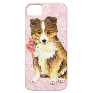 Valentine-Rose Sheltie iPhone 5 Schutzhülle
