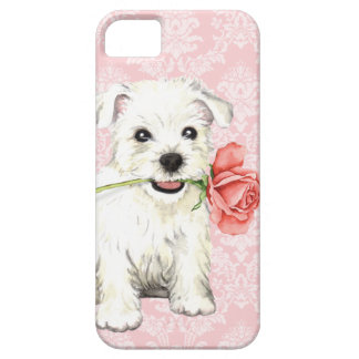Valentine-Rose Westie Barely There iPhone 5 Hülle