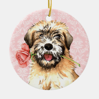 Valentine-Rose Wheaten Keramik Ornament