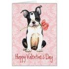 Valentine-Rosen-Boston-Terrier Karte