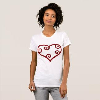 Valentine-roter Maori- Herz-T - Shirt