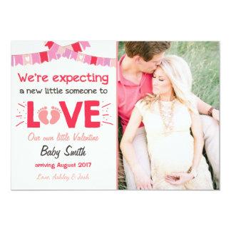 Valentine-Schwangerschafts-Mitteilung decken Karte