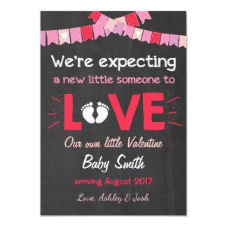 Valentine-Schwangerschafts-Mitteilung decken Liebe 12,7 X 17,8 Cm Einladungskarte
