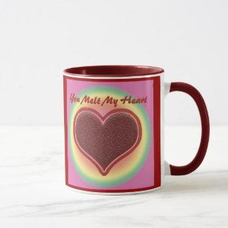 """Valentine """"Sie schmelzen mein Herz"""" Tasse"""