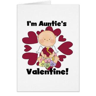 Valentine Tshirts und Geschenke Jungen-Amor-Tante Grußkarte