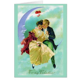 Valentine-viktorianische Paar-Liebe-Karte Karte