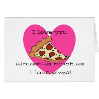 Valentinekarte Pizza der Liebe I Karte
