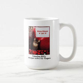 Valentinekitty-küssende Stand-Tasse Kaffeetasse