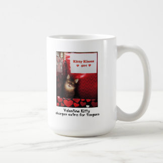 Valentinekitty-küssende Stand-Tasse Tasse