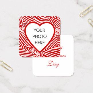 Valentines-Foto Quadratische Visitenkarte