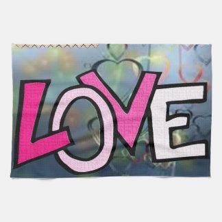 Valentines-Liebeküchen-Handtuch Geschirrtuch