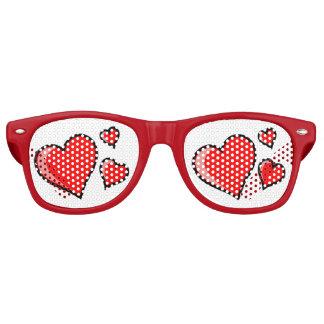 Valentines-Retro Party-Schatten Partybrille