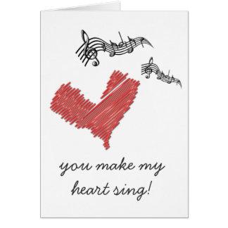 Valentinsgruß-Anmerkung, lassen Sie mein Herz Karte