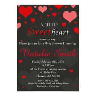 Valentinsgruß-Babyparty-Einladung, Schatz 12,7 X 17,8 Cm Einladungskarte