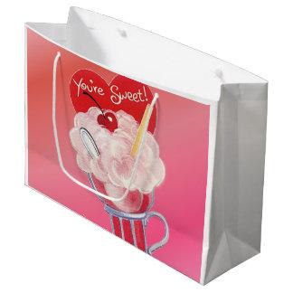 Valentinsgruß-Eiscreme-Soda Große Geschenktüte