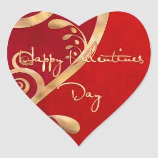Valentinsgruß-Eleganz 2 Herz-Aufkleber