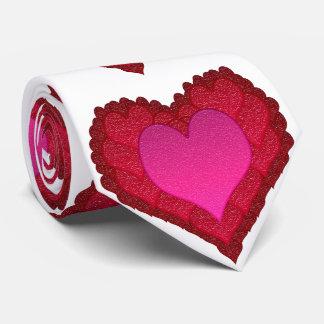 Valentinsgruß-Glas-Herzen Personalisierte Krawatten
