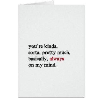 Valentinsgruß-Karte. Sie sind immer auf meinem Karte