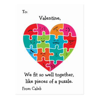 Valentinsgruß-Klassenzimmer kardiert Postkarte