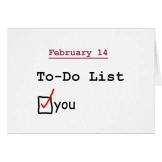 Valentinsgruß: Lustig Zu-listen Sie auf Karte