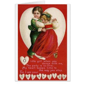Valentinsgruß-Paar-Tanzen-Karte Karte