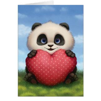 Valentinsgruß-Panda Karte