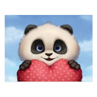 Valentinsgruß-Panda Postkarte