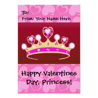Valentinsgruß-Prinzessin Personalisierte Einladungen