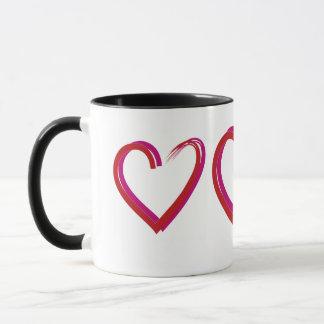 Valentinsgruß-Rot-Herz Tasse